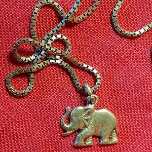 Jewelry - 🐘Silver Elephant Pendant & Silver Box Chain🐘